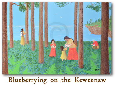 Blueberrying on the Keweenaw