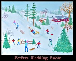 Perfect Sledding Snow