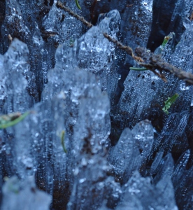 spring ice formations